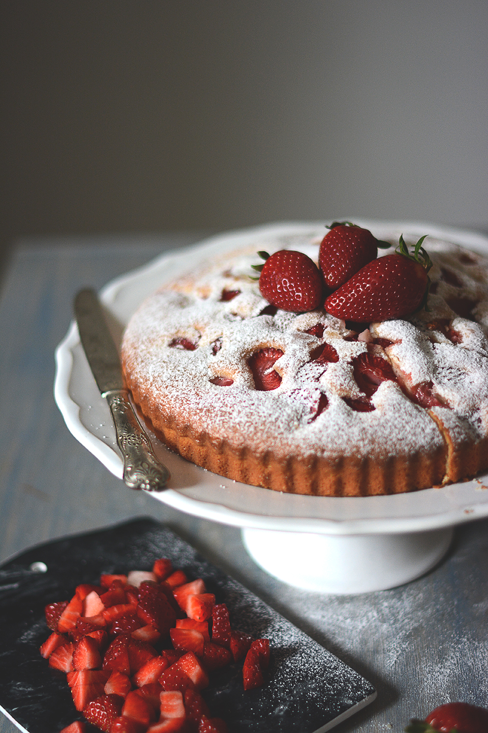 jahodova bublanina / strawberry pound cake
